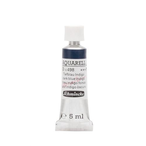Peinture aquarelle Horadam 5 ml extra-fine 498 - Bleu indigo foncé