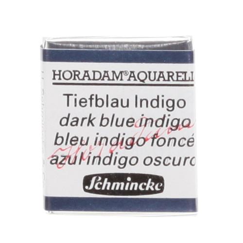 Peinture aquarelle Horadam demi-godet extra-fine 498 - Bleu indigo foncé