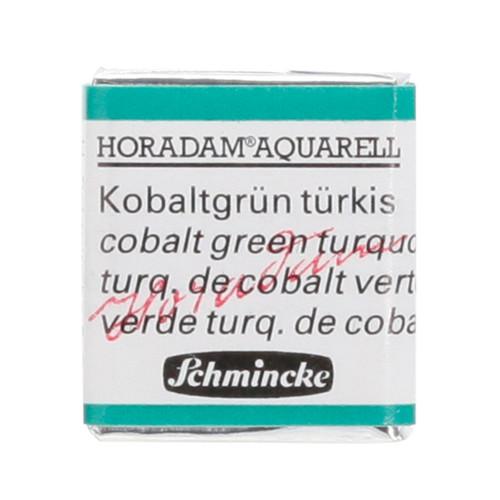 Peinture aquarelle Horadam demi-godet extra-fine 510 - Turquoise de cobalt verte