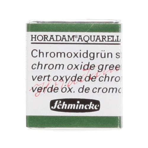 Peinture aquarelle Horadam demi-godet extra-fine 512 - Vert oxyde de chrome