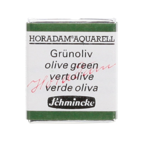 Peinture aquarelle Horadam demi-godet extra-fine 515 - Vert olive