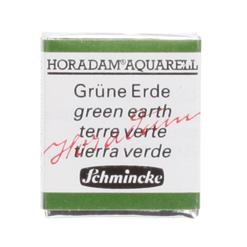 Peinture aquarelle Horadam demi-godet extra-fine 516 - Terre verte