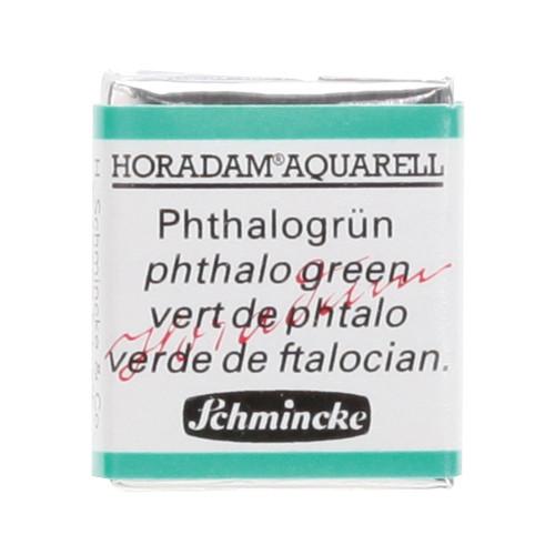 Peinture aquarelle Horadam demi-godet extra-fine 519 - Vert de phtalo