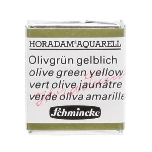 Peinture aquarelle Horadam demi-godet extra-fine 525 - Vert olive jaunâtre