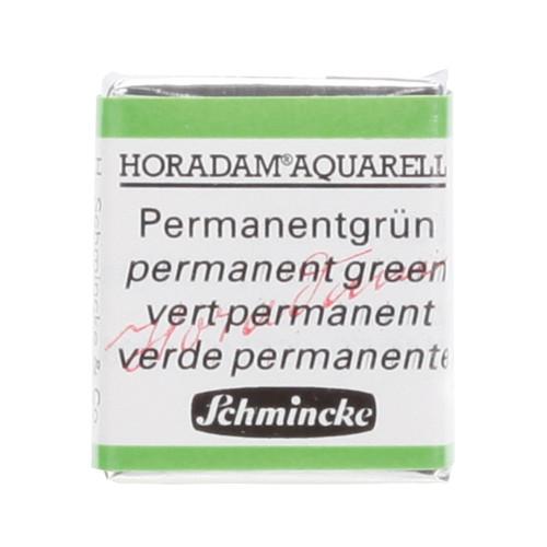 Peinture aquarelle Horadam demi-godet extra-fine 526 - Vert permanent