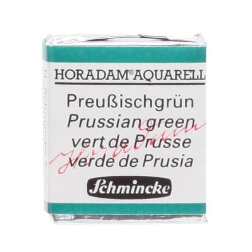 Peinture aquarelle Horadam demi-godet extra-fine 528 - Vert de Prusse