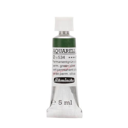 Peinture aquarelle Horadam 5 ml extra-fine 534 - Vert permanent olive