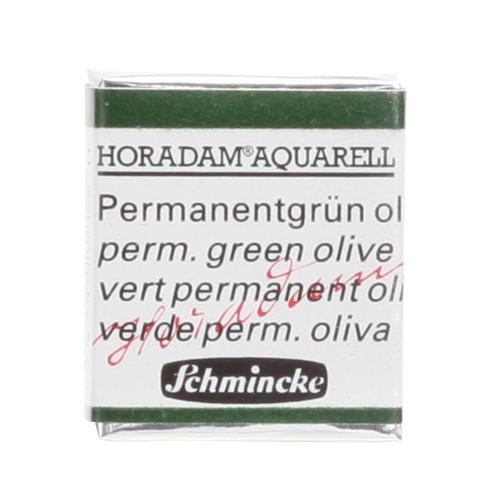 Peinture aquarelle Horadam demi-godet extra-fine 534 - Vert permanent olive