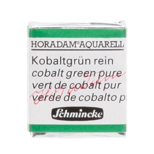 Peinture aquarelle Horadam demi-godet extra-fine 535 - Vert de cobalt pur