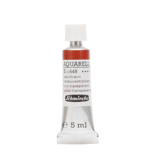 Peinture aquarelle Horadam 5 ml extra-fine 648 - Brun transparent