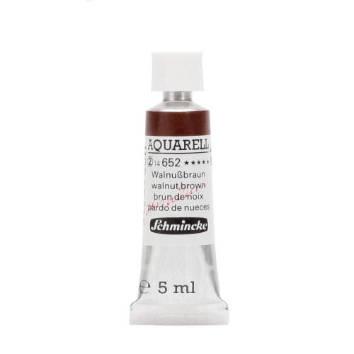 Peinture aquarelle Horadam 5 ml extra-fine 652 - Brun de noix