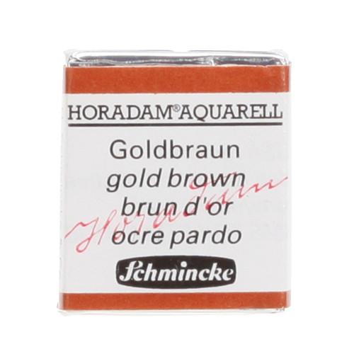 Peinture aquarelle Horadam demi-godet extra-fine 654 - Brun d'or