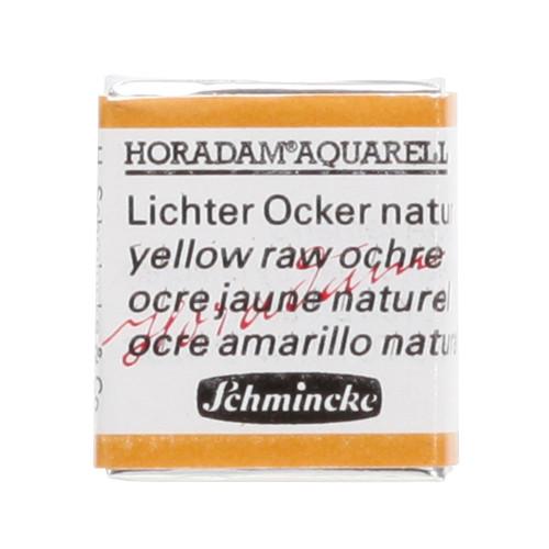 Peinture aquarelle Horadam demi-godet extra-fine 656 - Ocre jaune naturel