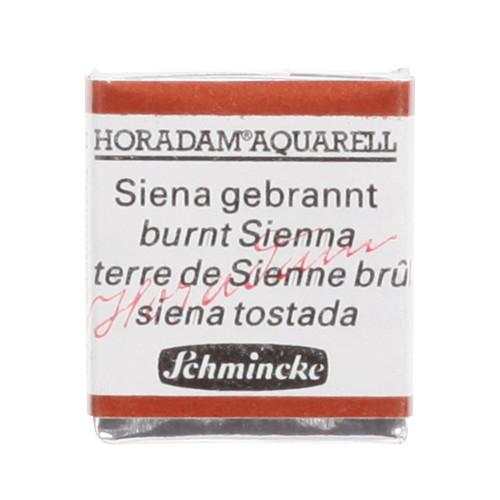 Peinture aquarelle Horadam demi-godet extra-fine 661 - Terre de Sienne brûlée