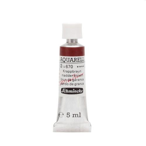 Peinture aquarelle Horadam 5 ml extra-fine 670 - Brun de garance