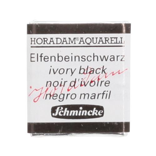Peinture aquarelle Horadam demi-godet extra-fine 780 - Noir d'ivoire
