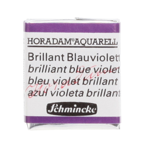 Peinture aquarelle Horadam demi-godet extra-fine 910 - Bleu violet brillant