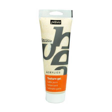Studio acrylics HV - Gel texture sable jaune - 250 ml