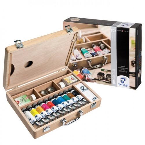 Coffret en bois de peintures à l'huile superfine Van Gogh - 10 x 40 ml