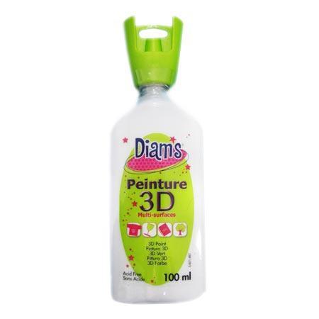 Peinture 3D Diams Brillant - Blanc - 100 ml