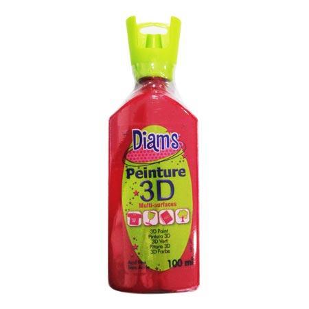 Peinture 3D Diams Brillant - Rouge Profond - 100 ml