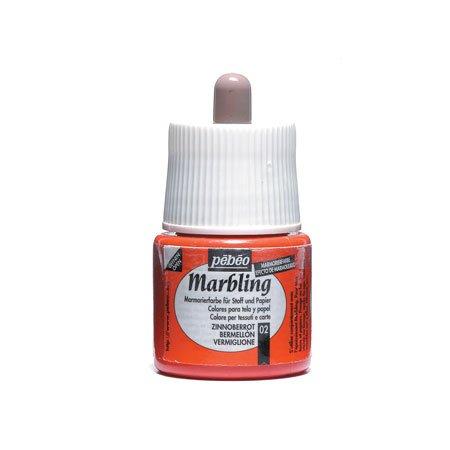 Marbling peinture - Vermillon 45 ml - couleur 02