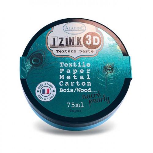 Izink Pâte 3D - nacré - Topaz - 75 ml