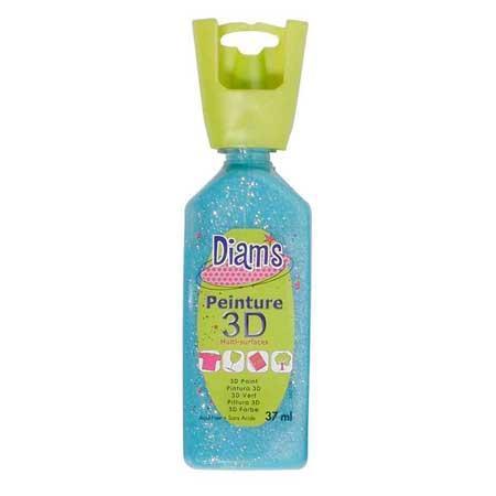 Peinture 3D Diams Glacé - Bleu lagon - 37 ml