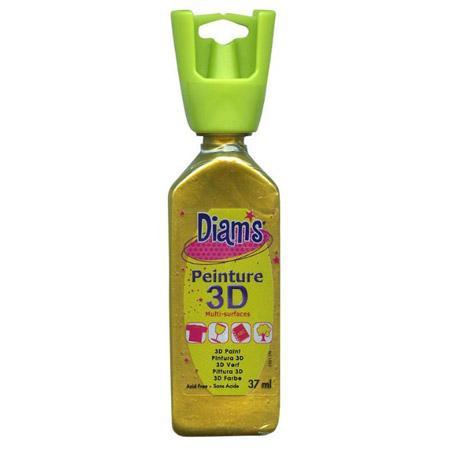 Peinture 3D Diams Nacré - Or empire - 37 ml