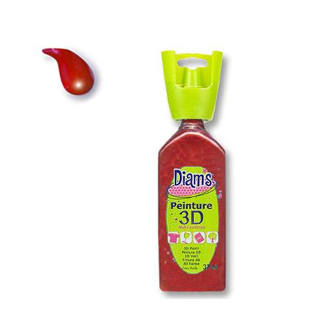 Peinture 3D Diams Nacré - Rouge empire - 37 ml