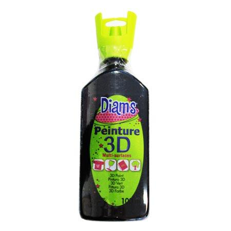 Peinture 3D Diams Brillant - Noir - 100 ml