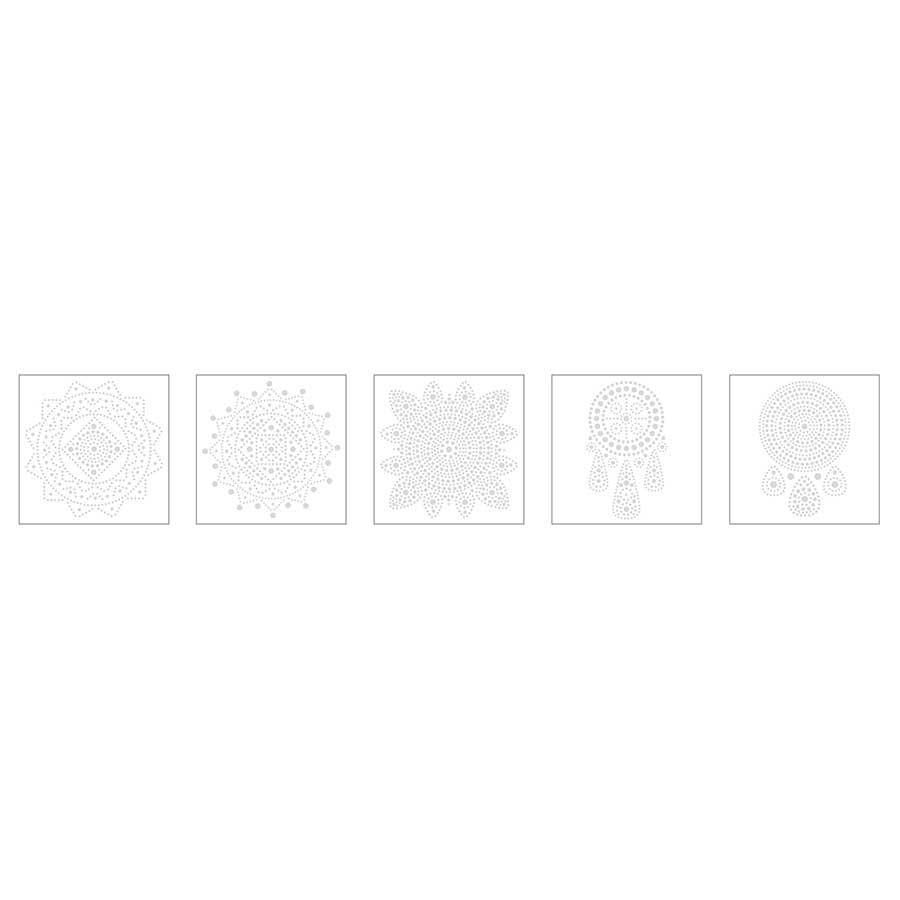 Lot de 5 cartes Mandala à décorer Slow & Art - fond blanc