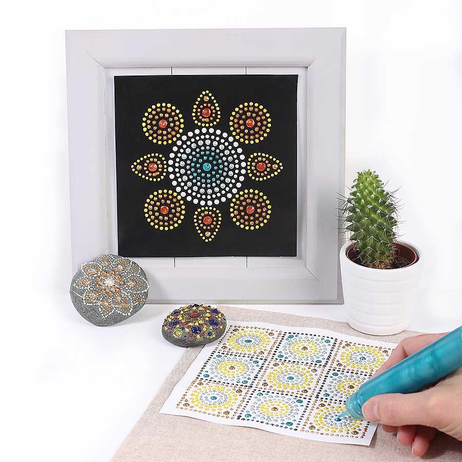 Peinture 3D Slow & Art - vert pailleté