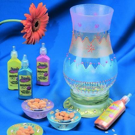 Peinture 3D Diams Brillant - Violet - 37 ml