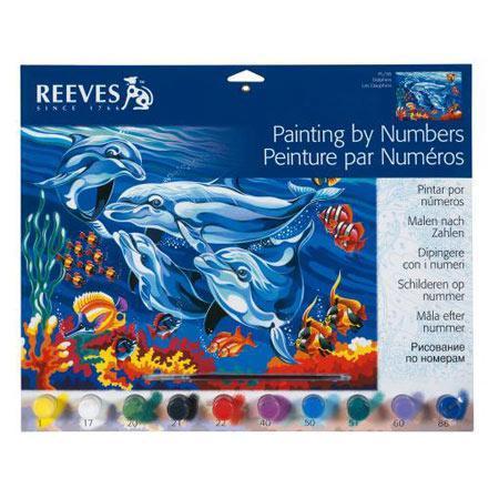 Peinture par Numéros - Les dauphins