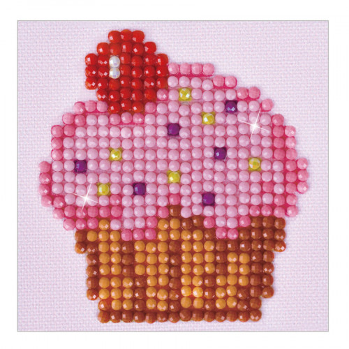 Kit Tableau Strass Diamond Dotz Cupcake