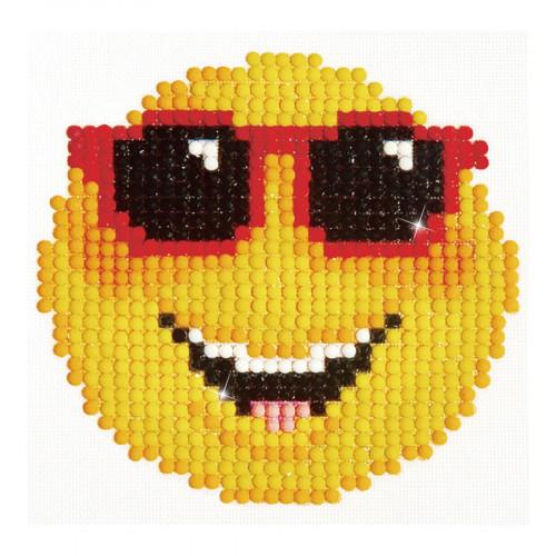 Kit Tableau Strass Diamond Dotz Smiley à lunettes