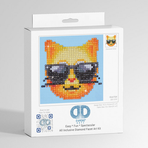 Kit Tableau Strass Diamond Dotz Smiley Chat