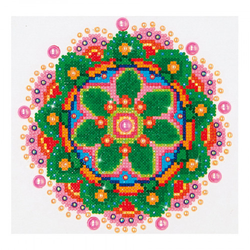 Kit Tableau Strass Diamond Dotz Mandala Fleur
