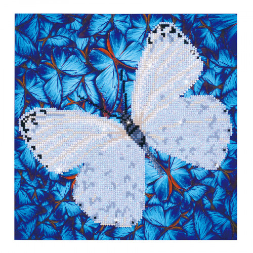 Kit Tableau Strass Diamond Dotz Papillon blanc