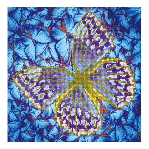 Kit Tableau Strass Diamond Dotz Papillon argent