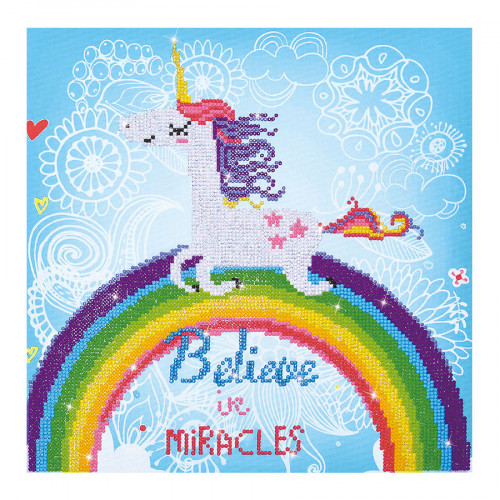 Kit Tableau Strass Diamond Dotz Licorne