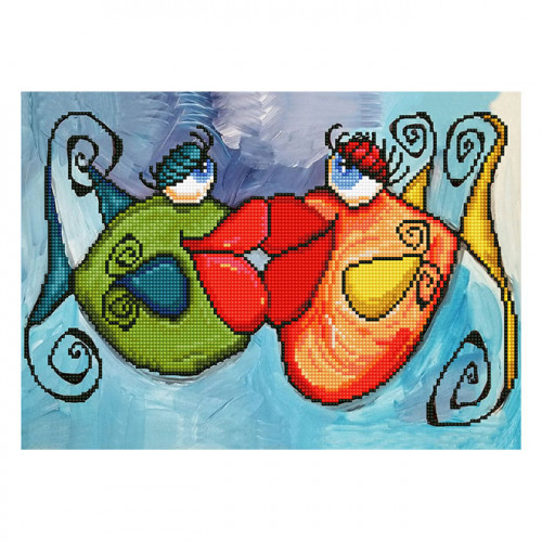 Kit Tableau Strass Diamond Dotz Fishy Kiss