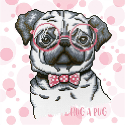 Kit Tableau Strass Diamond Dotz Hug a Pug