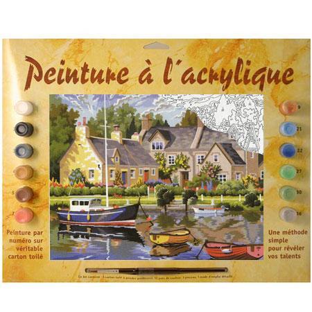Peinture par numéro - Maisons bretonnes