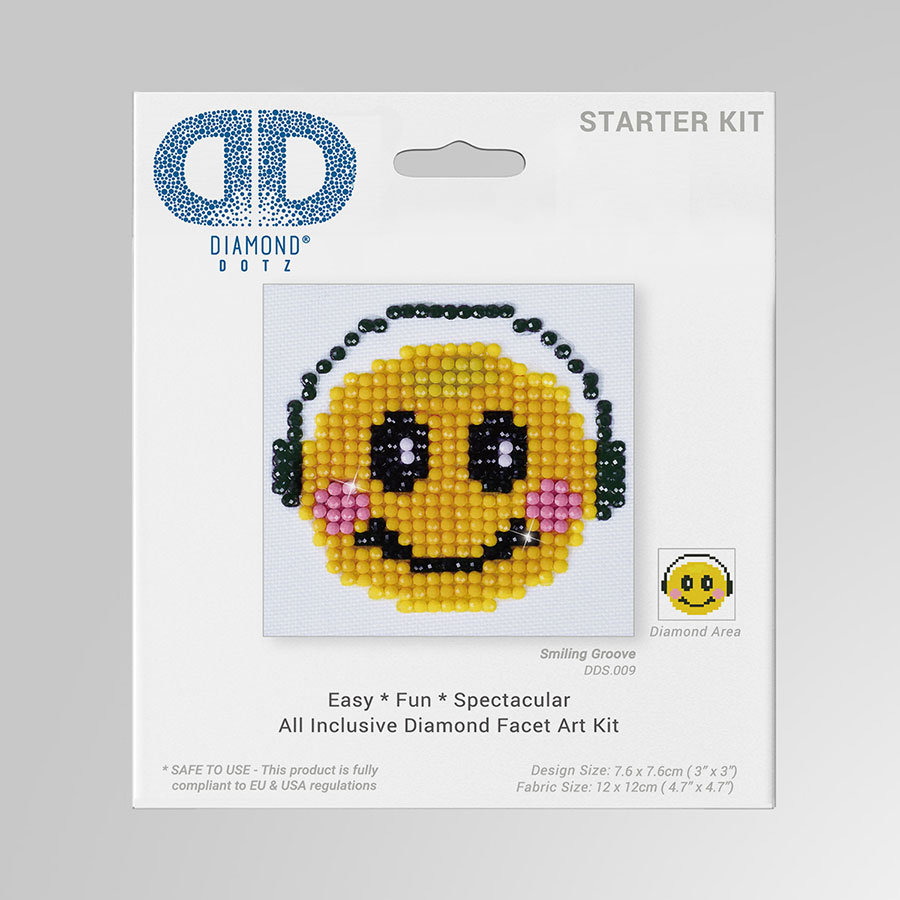 Kit Tableau Strass Diamond Dotz Smiley Groove