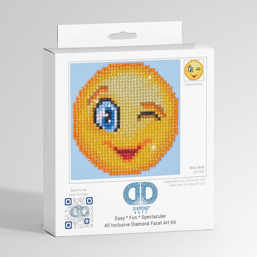 Kit Tableau Strass Diamond Dotz Smiley Clin d'œil