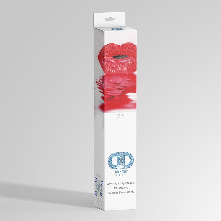 Kit Tableau Strass Diamond Dotz Bouche rouge