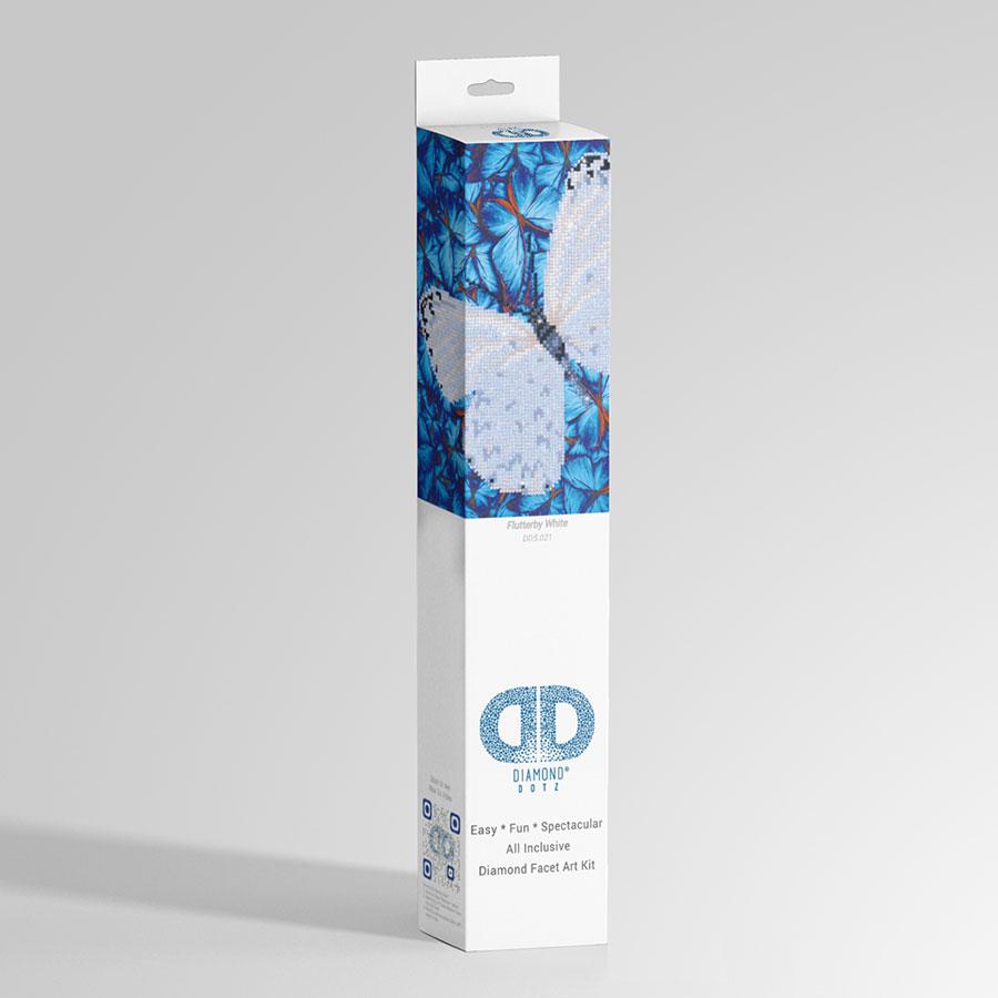 Kit Tableau Strass Diamond Dotz Papillon blanc