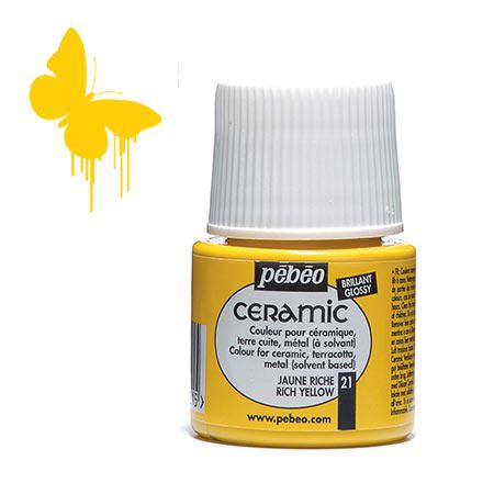 Céramic - Jaune riche 45 ml - couleur 21